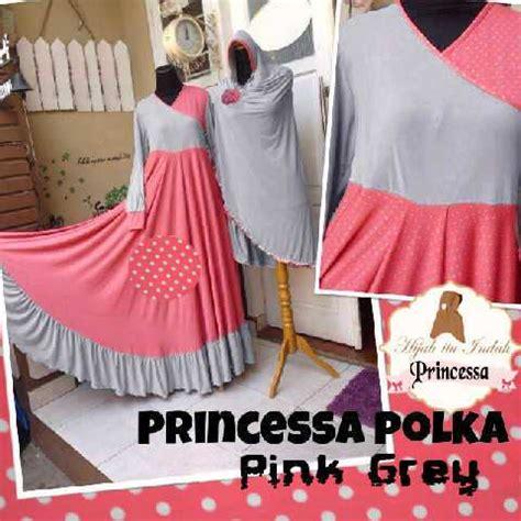 Princessa Bergo baju gamis princessa polka y1047 xl set bergo syari terbaru