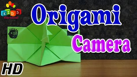 tutorial origami camera origami how to make camera simple tutorial in english