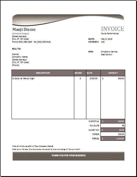 pin  alizbath adam  microsoft excel invoices invoice template invoice sample invoice format