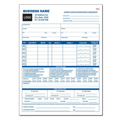 Landscape Forms Terms And Conditions Hvac Contractor Invoice Form Custom Form Printing