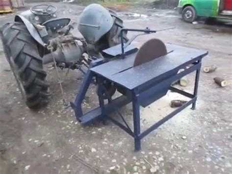 pto saw bench tractor pto powered saw bench youtube