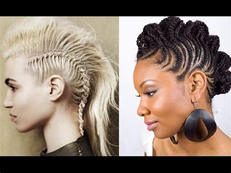 different types of mohawk braids hairstyles scouting for braided mohawk hairstyles youtube