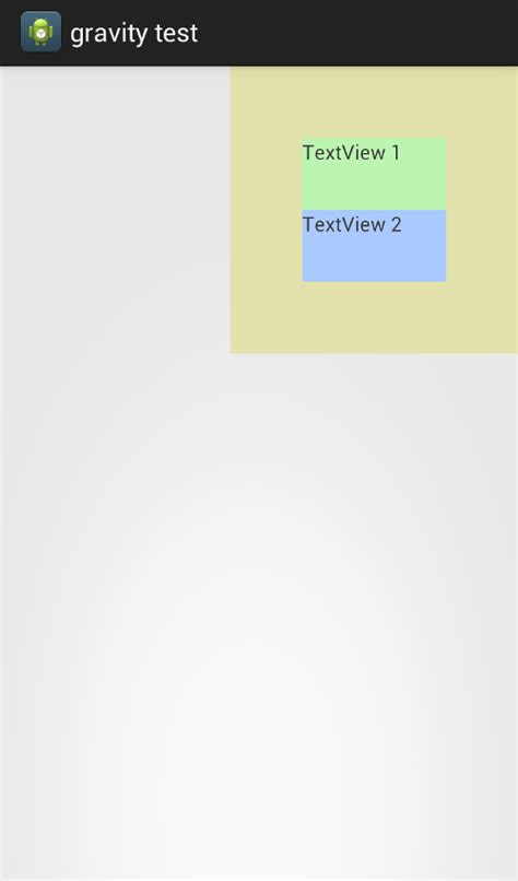 android layout gravity android how to set both gravity and layout gravity of a linearlayout programatically stack