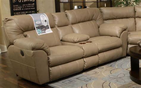 catnapper nolan reclining sofa catnapper nolan leather wide reclining console