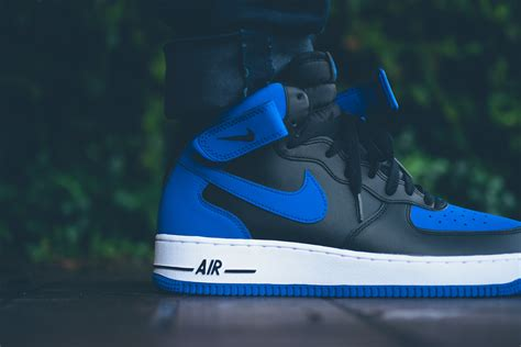 Nike Airforce Shoes Sepatu Addict10 nike air 1 mid black blue
