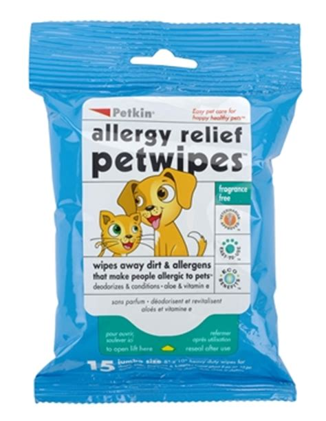 puppy wipes allergy relief pet wipes 15ct petkin