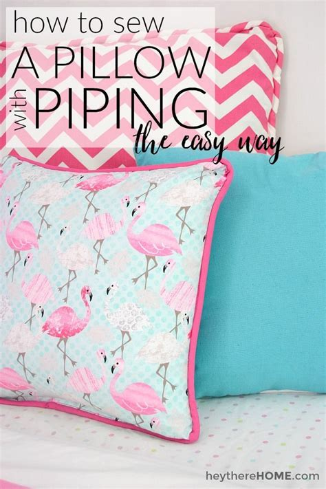 How To Sew Piping For Upholstery by How To Sew A Pillow Cover With Piping The Easy Way