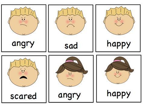worksheets for preschoolers on emotions 5 best images of preschool printables emotions feelings