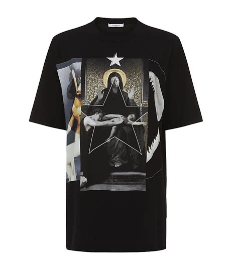Kaos Givenchy Shark Black givenchy madonna and shark t shirt in black lyst