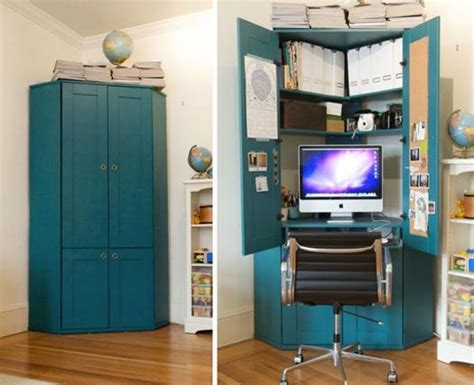 Computer Desk Storage Ideas by Small Home Office Cabinets Enhancing Space Saving Interior