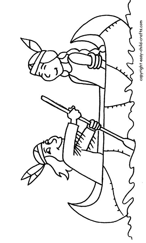 indian canoe coloring page native indian canoe coloring pages