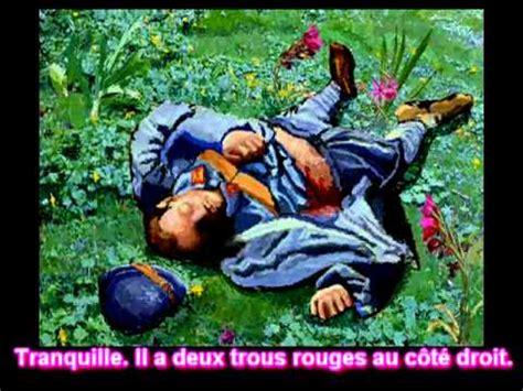 Le Dormeur Du Val Illustration by Le Dormeur Du Val Po 232 Me Rimbaud Musique Toni Valero