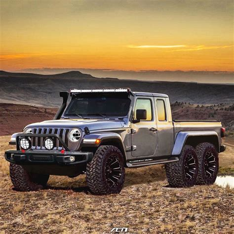 New Jeep Truck 2020 2020 jeep gladiator truck rendered as 6x6
