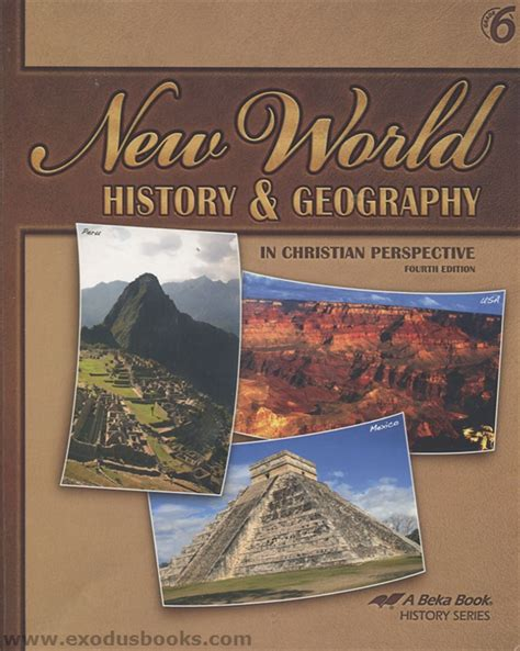 geography and history students new world history geography student text exodus books