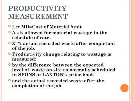 productivity the difference books 094 productivity measurement