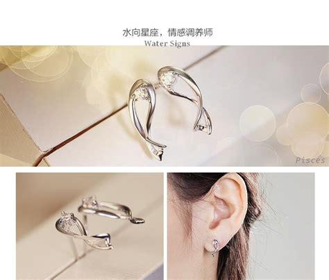 Earrings Earrings Vintage Anting Anting Tusuk Anting Kotak zodiac earrings virgo white 925 sterling silver anting wanita white