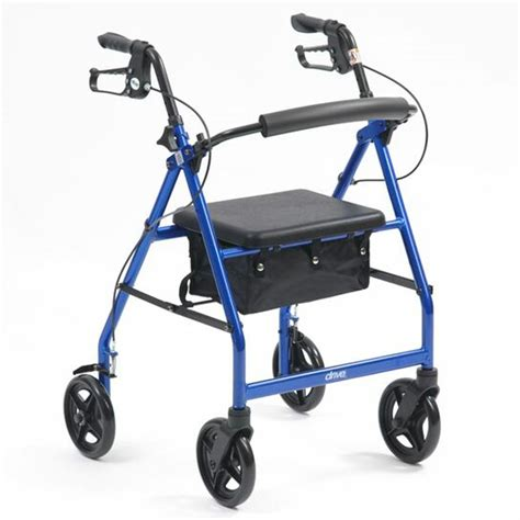 drive rollator drive r8 lightweight aluminium rollator blue