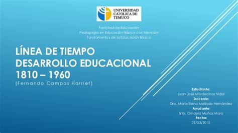 lnea de tiempo web slideshare l 237 nea de tiempo desarrollo educacional chileno 1810 1960