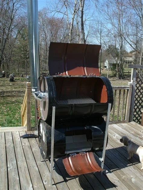 How To Build Your Own No Weld Drum Bbq Smoker Your Projects Obn Build Your Own No Weld Barrel Smoker Permaculture Barrel Smoker Barrel Diy Smoker