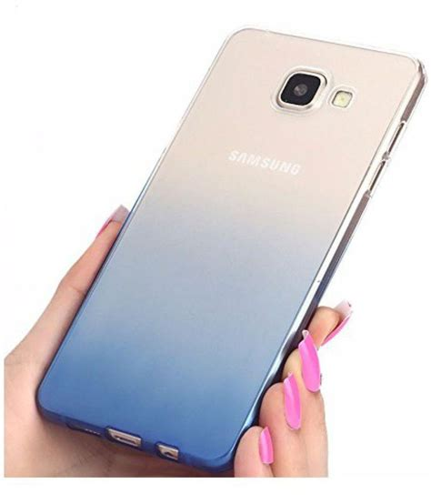 Clear View Samsung Galaxy A9 Pro Hardcase 1 samsung galaxy a9 pro soft silicon cases fonovo blue plain back covers at low prices