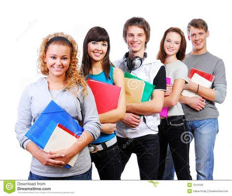 imagenes inspiradoras para estudiantes estudiantes sonrientes imagen de archivo imagen de