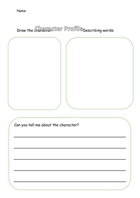 character biography template ks2 character profile template by smirah95 teaching