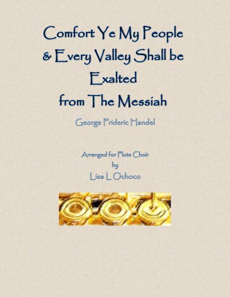 comfort ye from messiah download comfort ye every valley from the messiah for
