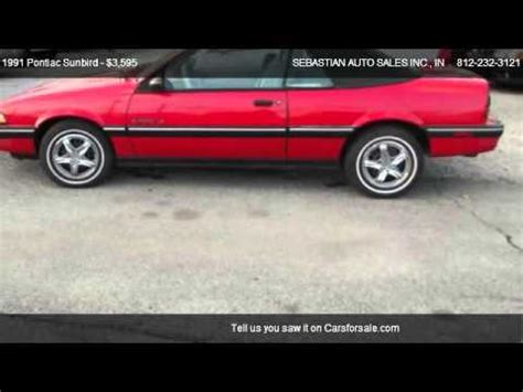 how to fix cars 1991 pontiac sunbird lane departure warning 1991 pontiac sunbird le convertible for sale in terre haute in 47802 youtube