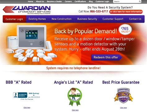 guardian protection services reviews real customer reviews