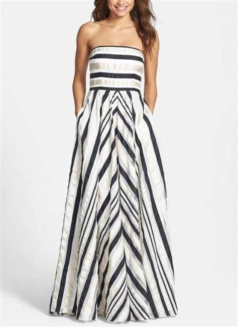 Ribbon Stripe Dress pretty prom dress ribbon stripe strapless dress