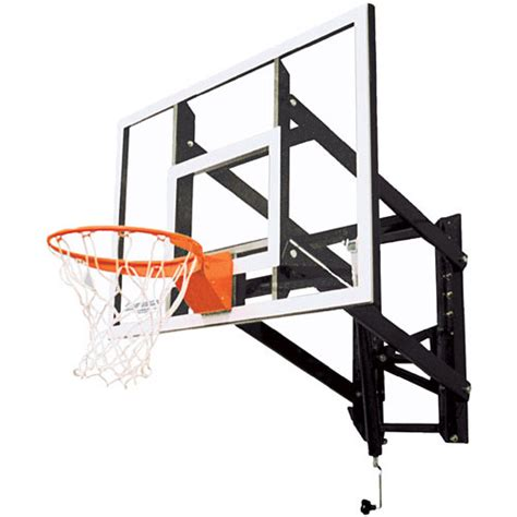 Adjustable Basketball Hoop Garage Mount by Goalsetter Gs54 Adjustable Wall Mounted Basketball Hoop