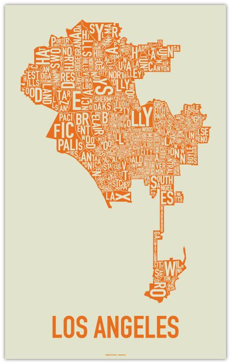 typography map calibrarian typography maps los angeles