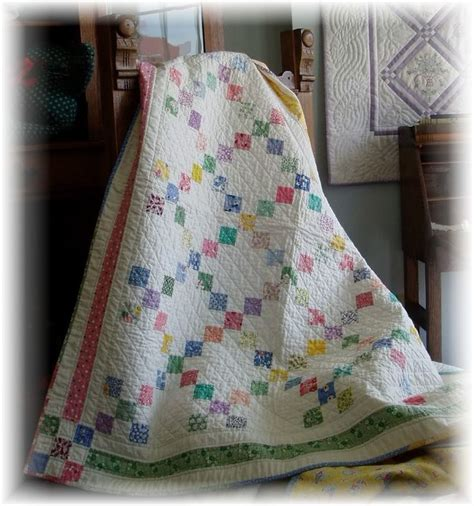 Crib Size Quilt Patterns by Details About 9 Patch Baby Quilt 2 Sizes For Tablecloth