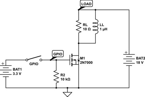transistor gate source voltage mosfet as switch with 2 voltage sources electrical engineering stack exchange