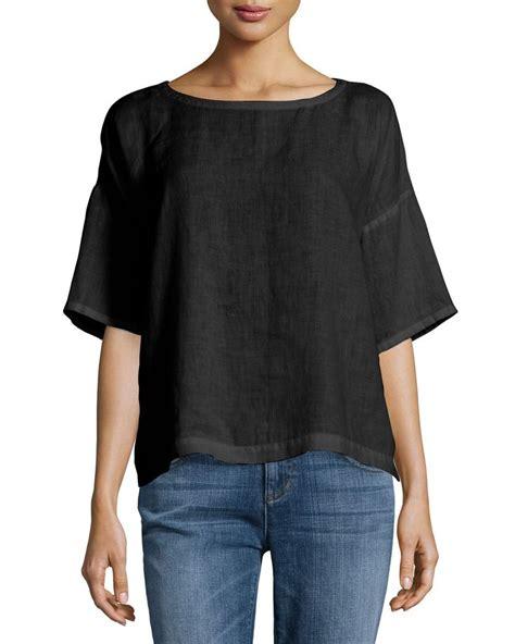 Tab Sleeved Linen Top 1000 ideas about linen tops on linen dresses