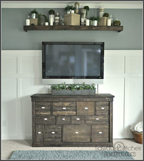 Barn Door Tv Stand Diy Remodelaholic Turn An Ikea Shelf Into A Pottery Barn Ledge