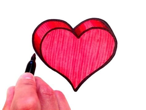 3d love heart how to draw a 3d love heart www imgkid com the image