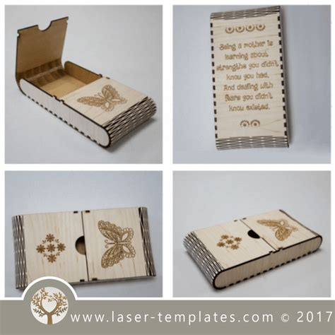 laser cut wood box template living hinge wooden box template for laser cut and engrave