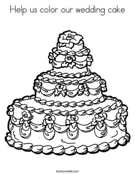 cute cake coloring pages help us color our wedding cake coloring page twisty noodle