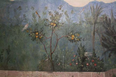 Painting Dining Room by Garden Fresco Livia S Villa Rome Illustration