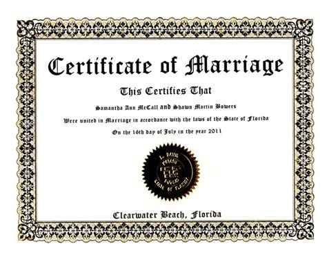 Keepsake Marriage Certificate Template photo shoot gift certificate template to print