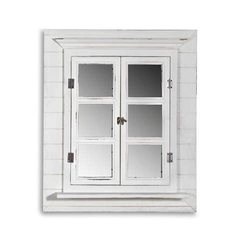 deko spiegel fensterladen shabby holz spiegel rundbogen - Dekor Spiegel