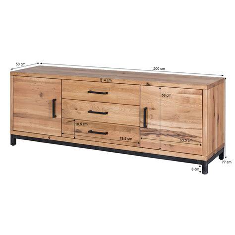 sideboard 200 x 100 sideboard bestano 200 x 50 x 77 cm eiche massivholz