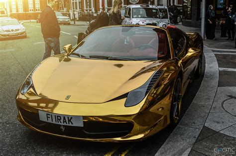 chrome ferrari 458 amazing gold ferrari dubai youtube