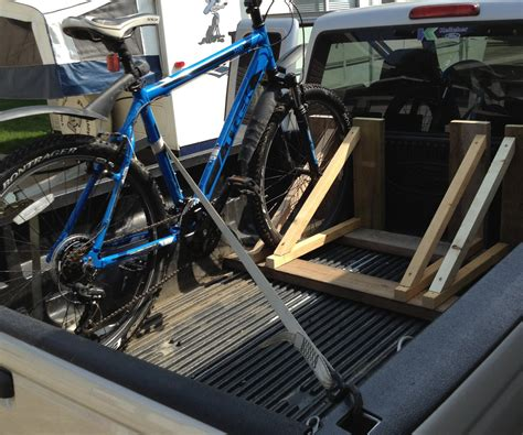 diy bike rack for truck bed wood bike rack 5