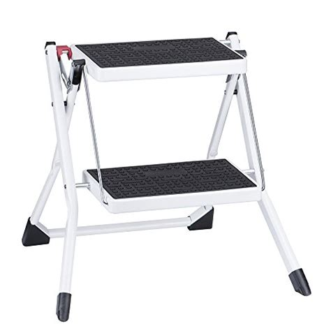 sturdy folding step stool delxo step stool stepladders lightweight white folding