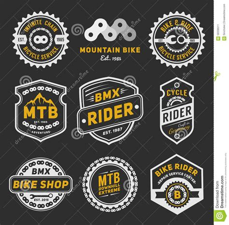 design logo label biker t shirt template cartoon vector cartoondealer com