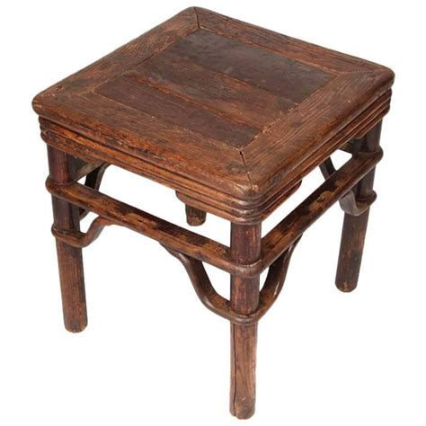 square stool with s shape spandrels for sale at