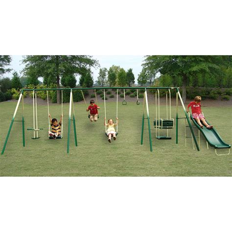 8 swing set sportspower the adventure play 8 leg swing set shop your