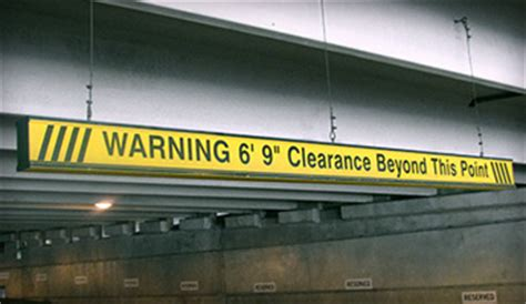 Parking Garage Clearance by Height Clearance Bars Parking Headache Bars Low